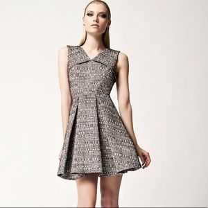 Robert Rodriguez Raffia tweed fit and flare dress
